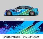 car wrap decal design concept.  ... | Shutterstock .eps vector #1422340025