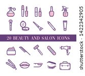 20 beauty and salon icons | Shutterstock .eps vector #1422342905