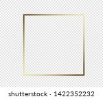gold shiny glowing frame with... | Shutterstock .eps vector #1422352232