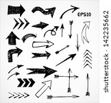 sketch arrow collection for... | Shutterstock .eps vector #142235662