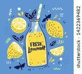 fresh lemonade and it's... | Shutterstock .eps vector #1422369482