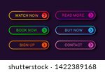 abstract web buttons with...