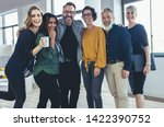cheerful business people... | Shutterstock . vector #1422390752