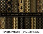 art deco patterns. seamless... | Shutterstock .eps vector #1422396332