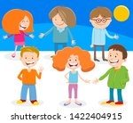 cartoon illustration of funny... | Shutterstock .eps vector #1422404915