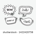 set of comic bubbles speech ... | Shutterstock .eps vector #1422420758