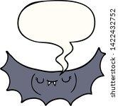 cartoon vampire bat with speech ... | Shutterstock .eps vector #1422432752