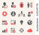 internet business. icon set | Shutterstock .eps vector #142245778