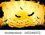 grungy halloween background... | Shutterstock . vector #142246372