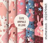 cute animals seamless pattern... | Shutterstock .eps vector #1422470465
