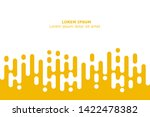 abstract yellow rounded lines... | Shutterstock .eps vector #1422478382