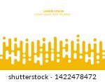 abstract yellow rounded lines... | Shutterstock .eps vector #1422478472