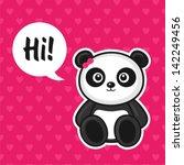 illustration of cute panda | Shutterstock .eps vector #142249456