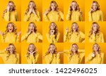 different emotions collage. set ... | Shutterstock . vector #1422496025