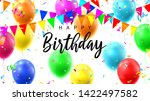 happy birthday colorful banner. ... | Shutterstock .eps vector #1422497582