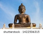 Buddha Statue In Temple With...