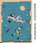 space resort vintage poster...   Shutterstock .eps vector #1422514358