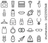 fashion isolated vector icons... | Shutterstock .eps vector #1422550568