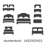 bed icon set   luxury double... | Shutterstock .eps vector #1422552422