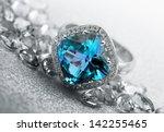 various jewelry gem stones on... | Shutterstock . vector #142255465
