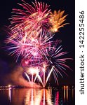 celebratory colorful  firework... | Shutterstock . vector #142255486