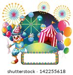 illustration of a clown with... | Shutterstock . vector #142255618