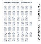 basic guitar chord chart icon...   Shutterstock .eps vector #1422558752