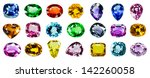 bright gems on a white... | Shutterstock . vector #142260058