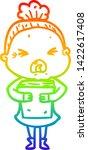 rainbow gradient line drawing... | Shutterstock .eps vector #1422617408