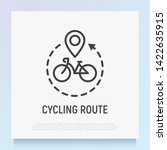 cycling route  bicycle with... | Shutterstock .eps vector #1422635915