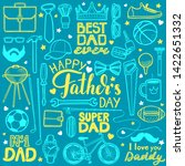 fathers day set. happy fathers... | Shutterstock .eps vector #1422651332