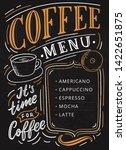 coffee menu lettering on... | Shutterstock .eps vector #1422651875