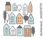 Hand Drawn Houses. Vector...
