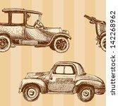 seamless cartoon map of cars... | Shutterstock .eps vector #142268962