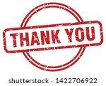 thank you round vintage grunge... | Shutterstock .eps vector #1422706922