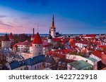 view to the european city... | Shutterstock . vector #1422722918