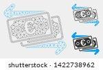 mesh euro banknotes change... | Shutterstock .eps vector #1422738962