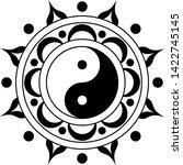 yin yang minimalist mandala... | Shutterstock .eps vector #1422745145
