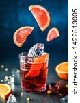 fresh grapefruit cocktail with... | Shutterstock . vector #1422813005