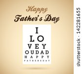 Happy Father's Day Eye Test...