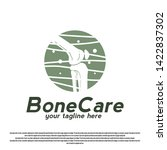 knee bone care logo design.... | Shutterstock .eps vector #1422837302