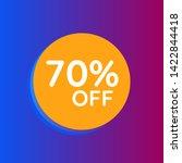 70  off sale discount banner.... | Shutterstock .eps vector #1422844418