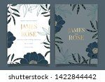 navy blue wedding invitation ... | Shutterstock .eps vector #1422844442