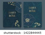 navy blue wedding invitation ... | Shutterstock .eps vector #1422844445