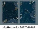 navy blue wedding invitation ... | Shutterstock .eps vector #1422844448