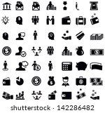 money and finance icons | Shutterstock .eps vector #142286482