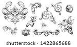 vintage baroque victorian frame ... | Shutterstock .eps vector #1422865688