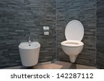 toilet in the bathroom | Shutterstock . vector #142287112