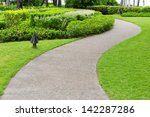 pathway through a green city... | Shutterstock . vector #142287286