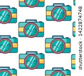 pattern of cameras... | Shutterstock .eps vector #1422874748